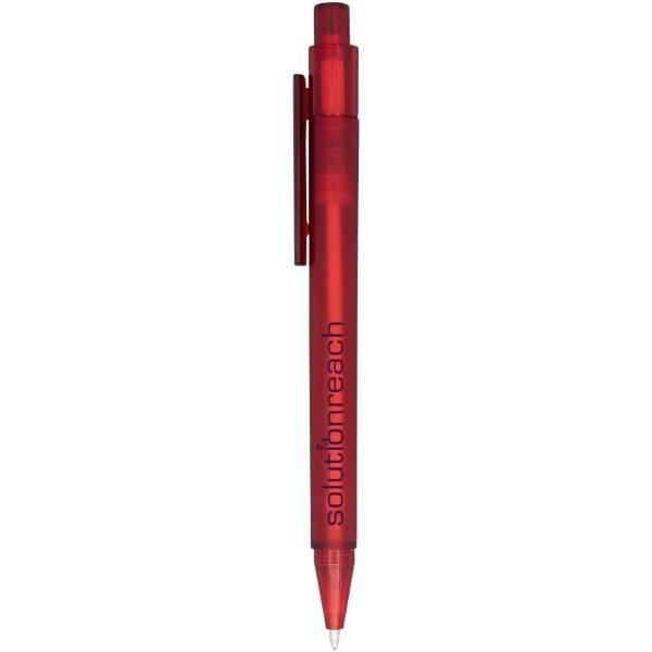 Calypso Kugelschreiber transparent matt - Rot Mattiert