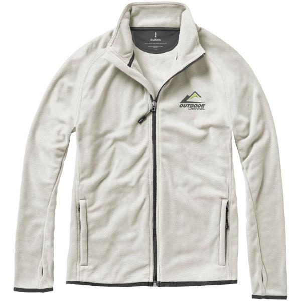 Brossard micro fleece full zip jacket - Light Grey / XL