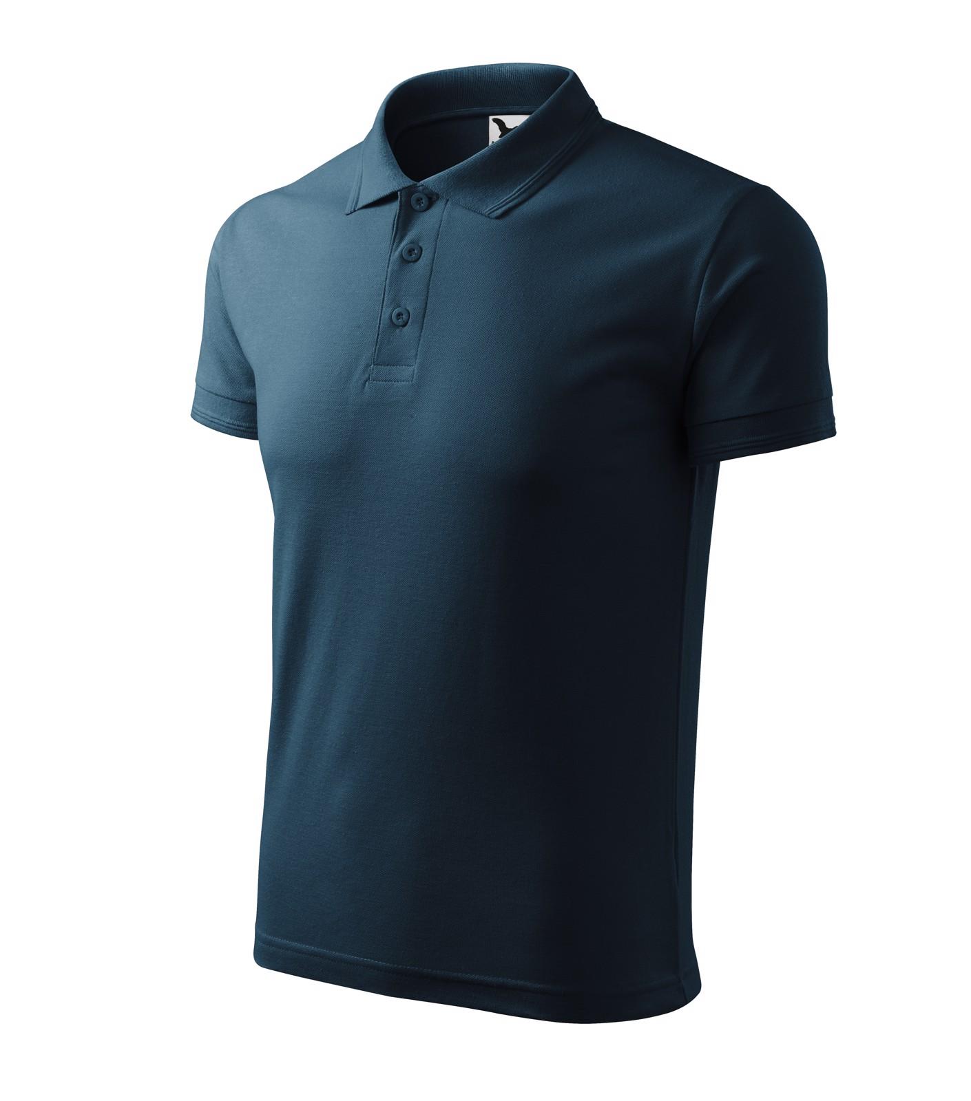 Polo Shirt men's Malfini Pique Polo - Navy Blue / 4XL