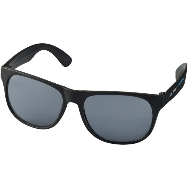 Retro duo-tone sunglasses - Solid black