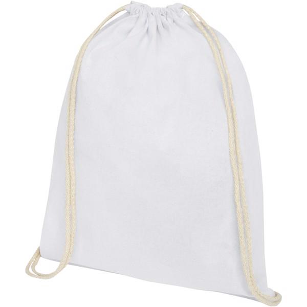 Oregon 140 g/m² cotton drawstring backpack - White