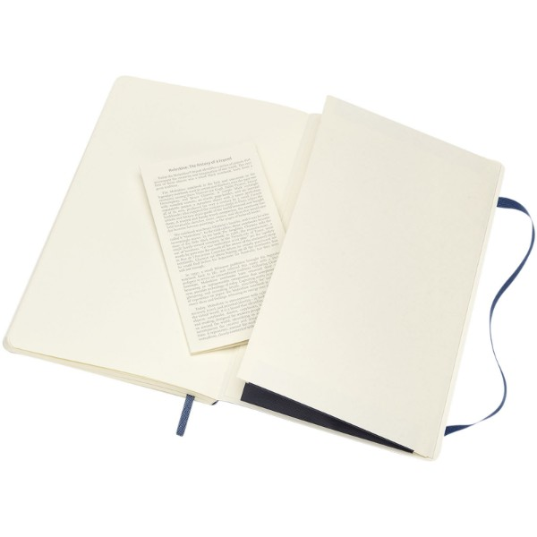 Classic L soft cover notebook - dotted - Sapphire blue