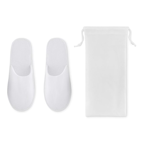 Pair of slippers in pouch Flip Flap - White