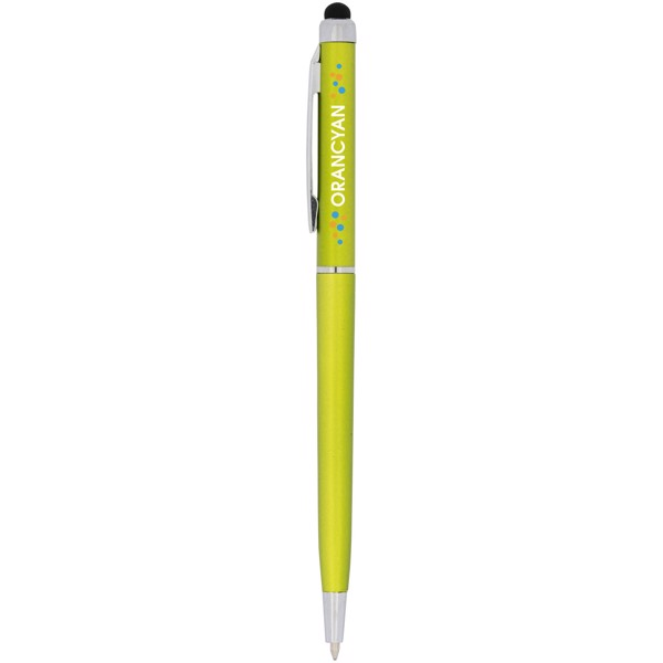 Valeria ABS ballpoint pen with stylus - Lime