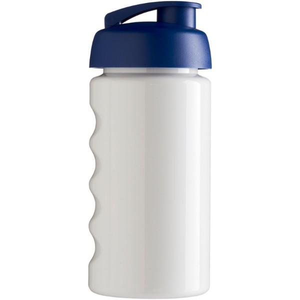 Sportovní láhev s vyklápěcím víčkem H2O Bop® 500 ml - Bílá / Modrá