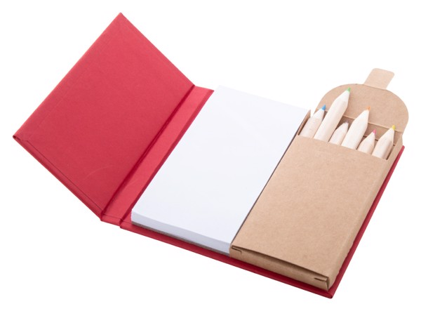 Notepad With Pencils Lumar - Red