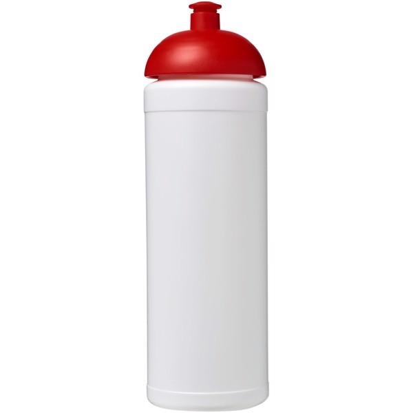Sportovní láhev s kupolovitým víčkem Baseline® Plus grip 750 ml - Bílá / Červená s efektem námrazy