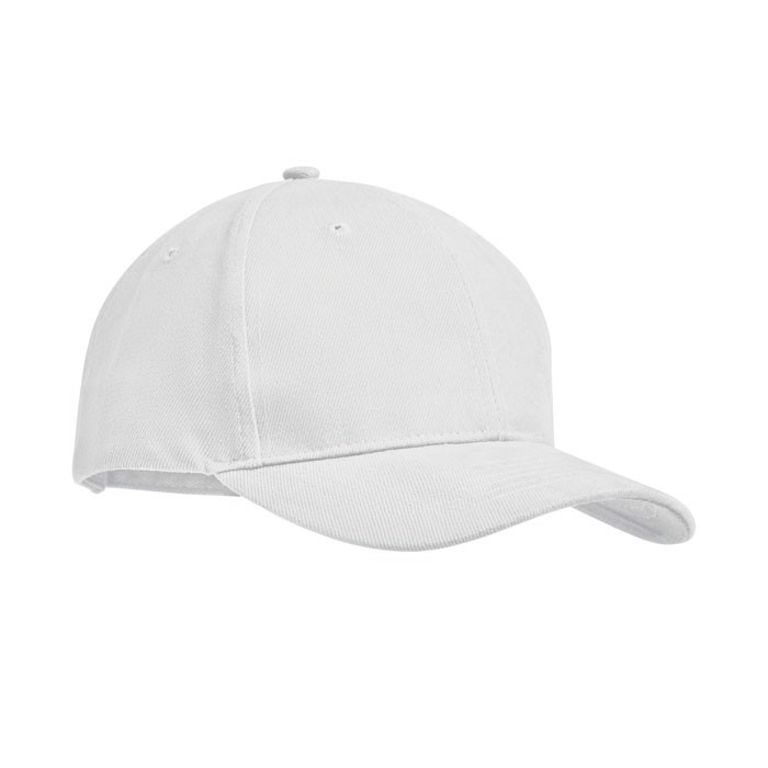 Brushed heavy cotton 6 panel Ba Tekapo - White