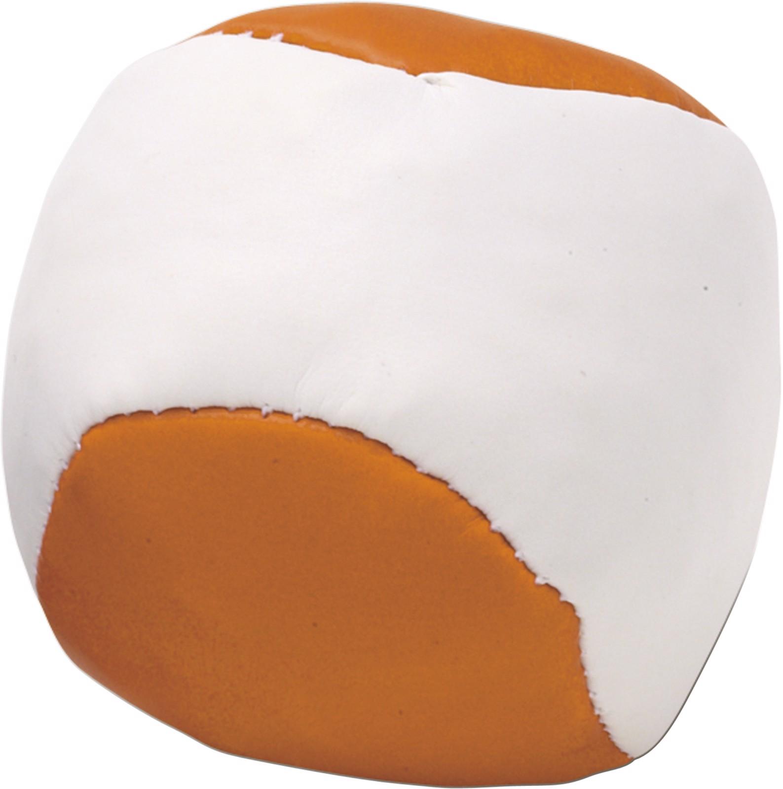 Imitation leather juggling ball - Orange