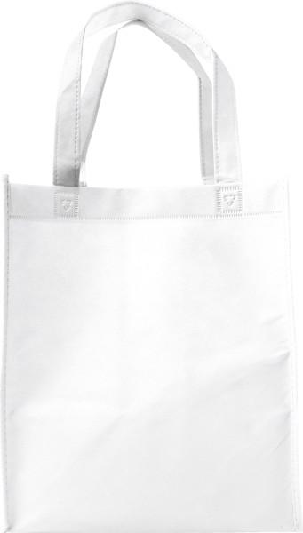 Nonwoven (80 gr/m²) shopping bag. - White