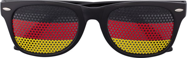 Plexiglass sunglasses with country flag - Black / Red