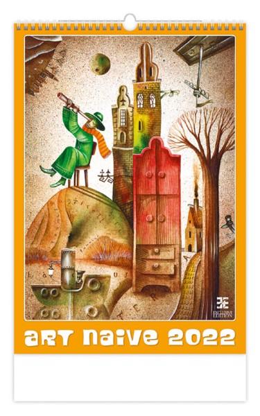 Měsíční kalendář Art Naive 2022