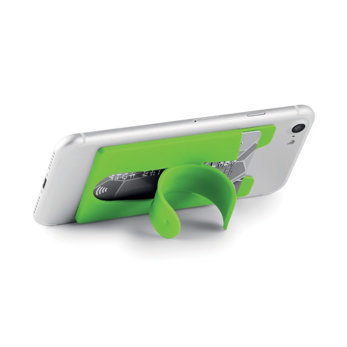 Silicone cardholder with snap Arc - Lime