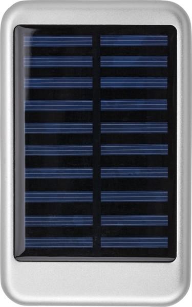 Aluminium solar power bank - Silver