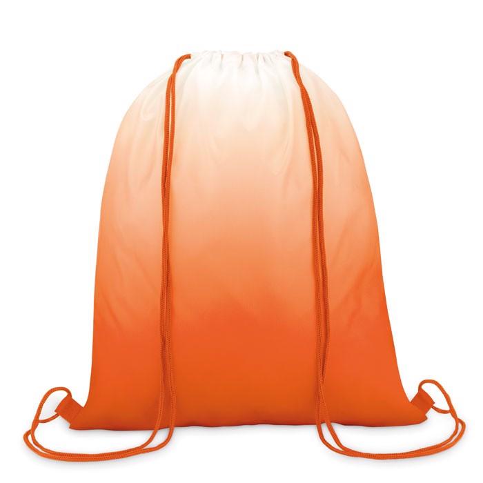 Sac cu șnur din poliester Fade Bag - orange