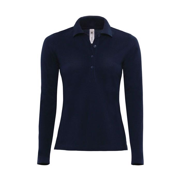 Damen Polo Shirt 180 g/m2 Ladies' Polo Ls - Navy / XXL