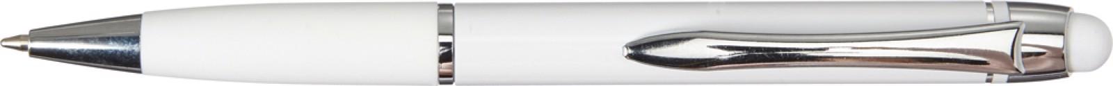 Aluminium ballpen - White