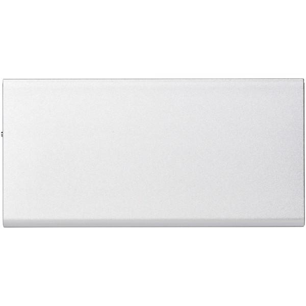 Hliníková powerbanka Plate 8000 mAh - Stříbrný