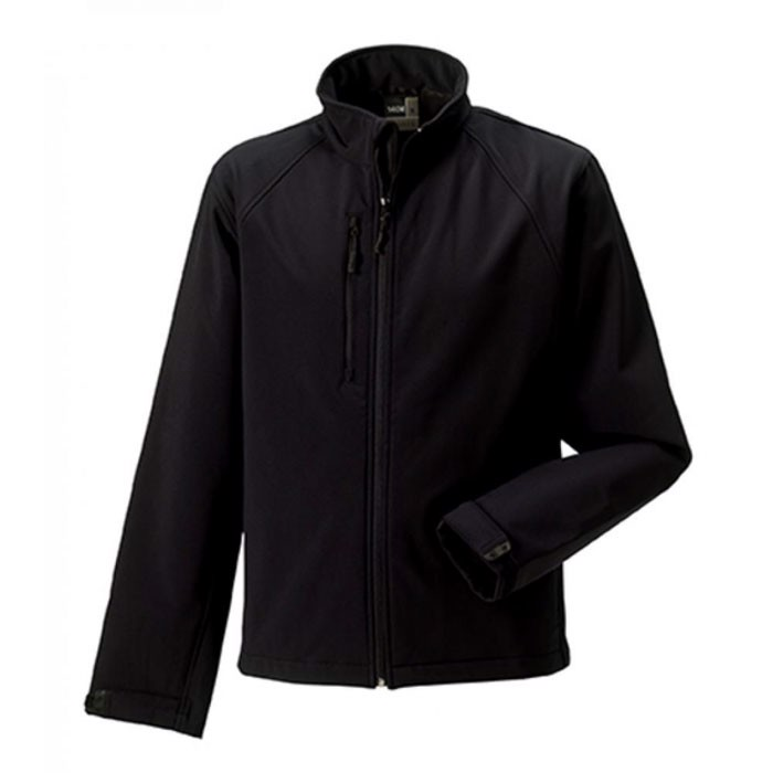 Men's Softshell 340 g/m2 Soft Shell Jacket R-140M-0 - Black / XS