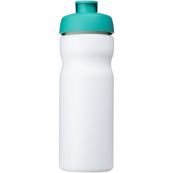 Baseline® Plus 650 ml flip lid sport bottle - White / Aqua