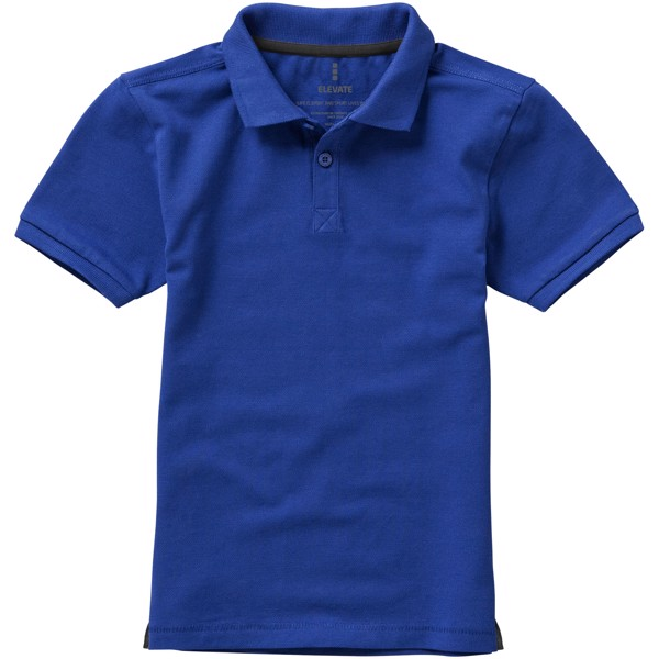 Calgary short sleeve kids polo - Blue / 116