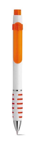 AISHA. Kuličkové pero s klipem - Oranžová