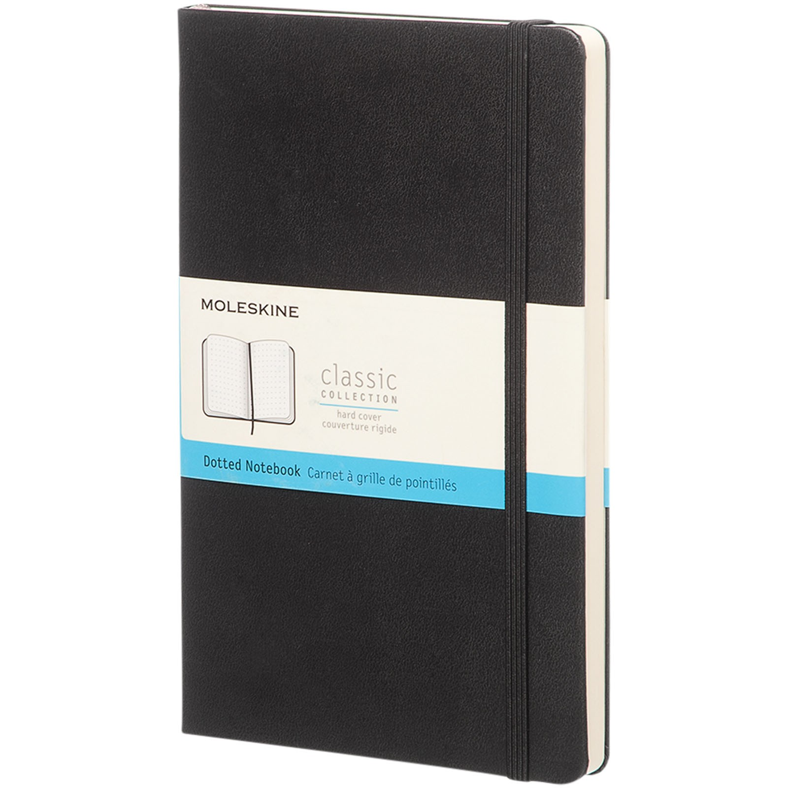 Classic L hard cover notebook - dotted - Solid black