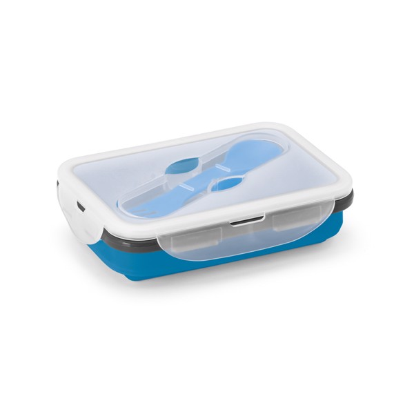 SAFFRON. Retractable airtight container 640 ml - Blue