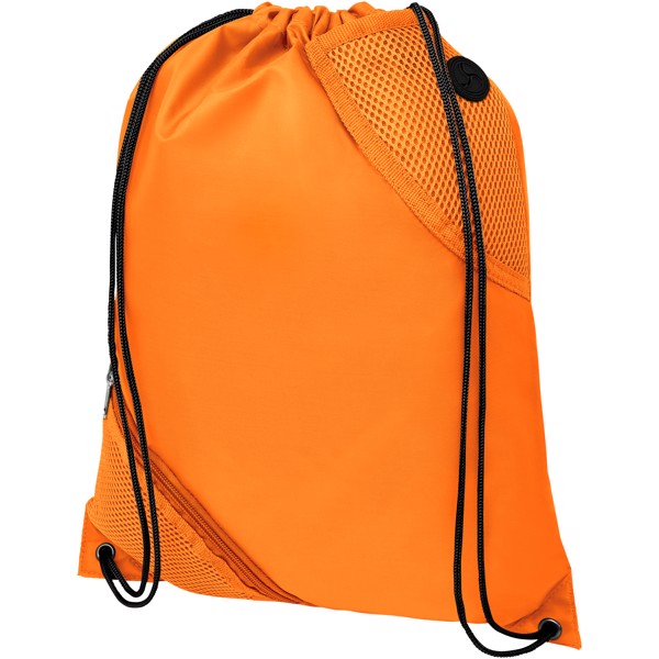 Oriole duo pocket drawstring backpack - Orange