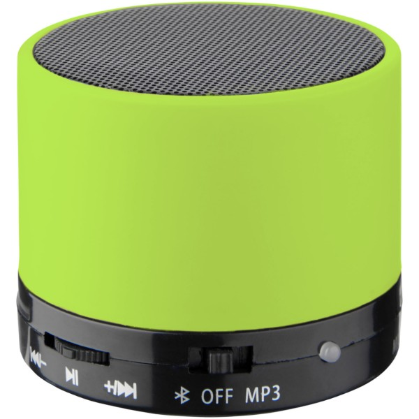 Duck cylinder Bluetooth® speaker with rubber finish - Lime