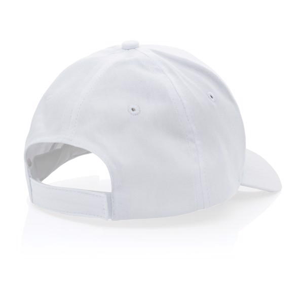 Gorra Impact 190gr de algodón reciclado con trazador AWARE™ - Blanco