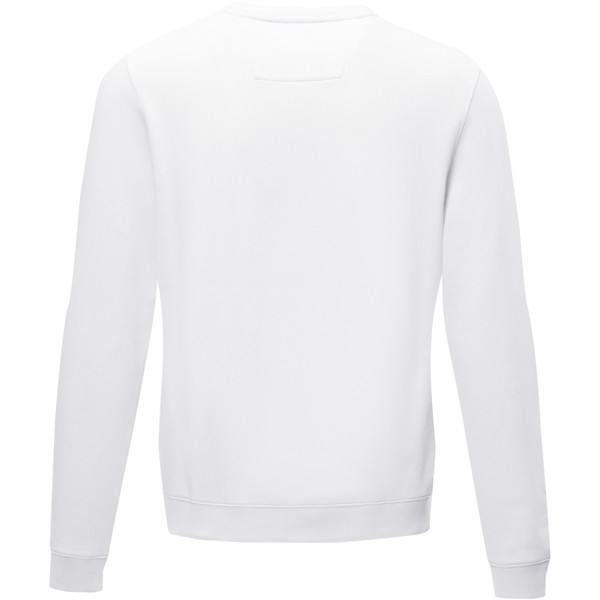Jasper men's GOTS organic GRS recycled crewneck sweater - White / XXL