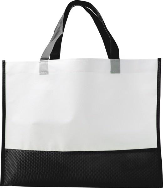 Nonwoven (80 gr/m²) shopping bag - Black