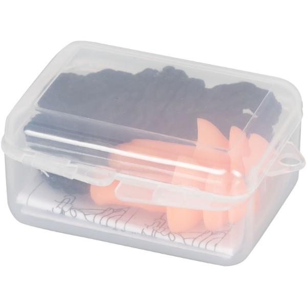 Zatyczki do uszu redukujące hałas wielorazowego użytku Bazz w opakowaniu - Pomarańczowy