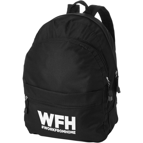 Trend 4-compartment backpack - Solid black