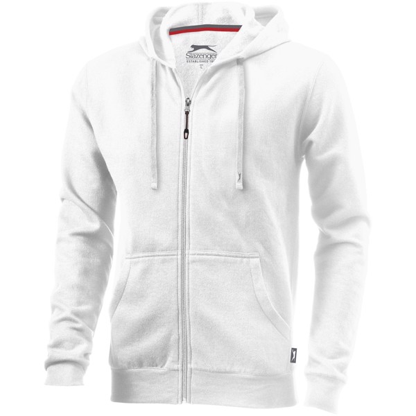 Open full zip hooded sweater - White / 3XL