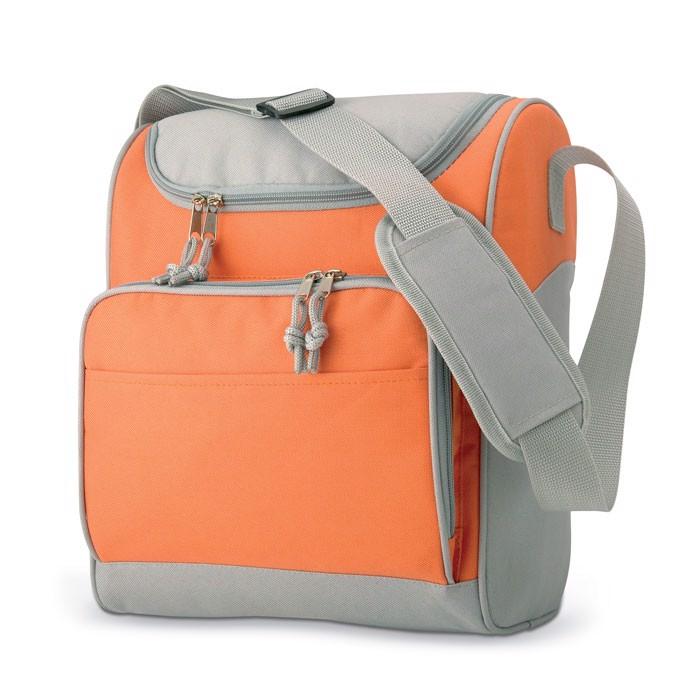 Cooler bag with front pocket Zipper - Orange