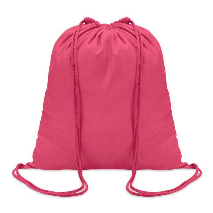 100gr/m² cotton drawstring bag Colored - Fuchsia