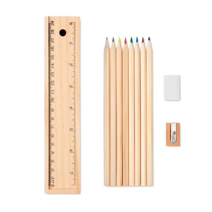 Pisarniški komplet v leseni škatli Todo Set