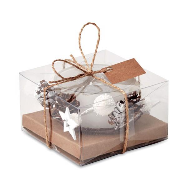 Christmas candle holder Bougie - White