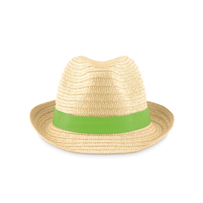 Paper straw hat Boogie - Lime