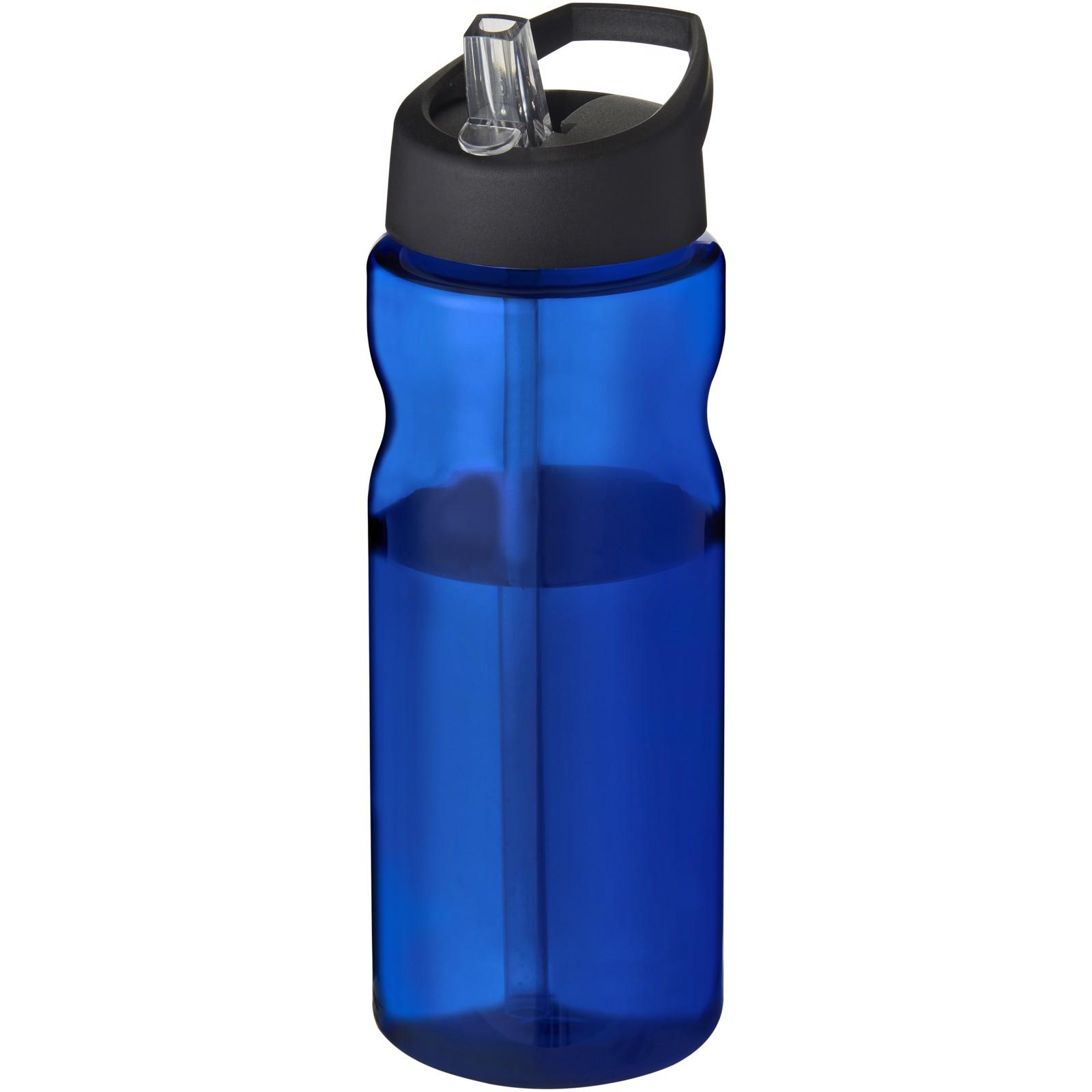 Sportovní láhev s víčkem s hubičkou H2O Eco 650 ml - Modrá / Černá Sytá