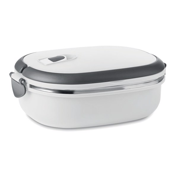 Lunch box with air tight lid Delux Lunch - White