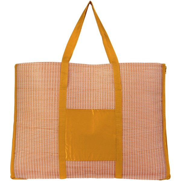 Bonbini foldable beach tote and mat - Orange