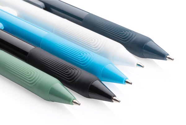 X9 solid pen with silicone grip - Blue