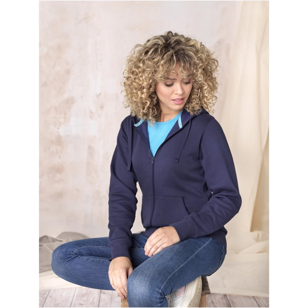 Ruby women's GOTS organic GRS recycled full zip hoodie - Navy / S