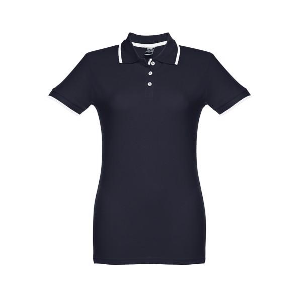 ROME WOMEN. Γυναικεία πόλο μπλούζα slimfit - Ναυτικό Μπλε / XL