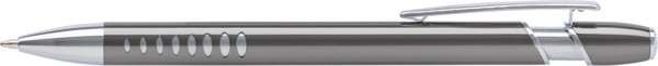 Aluminium ballpen with UV coating - Grey