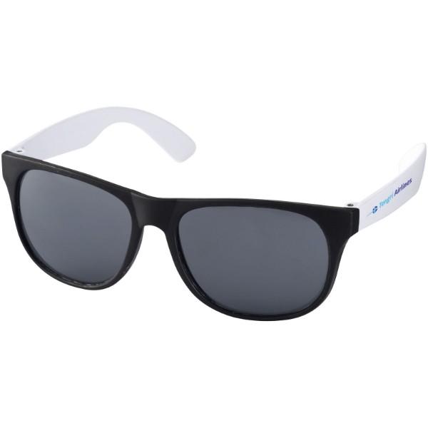 Dvoubarevné sluneční brýle Retro - Bílá / Černá