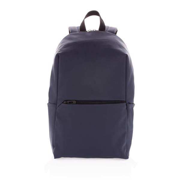 "Smooth PU 15.6""laptop backpack - Navy"